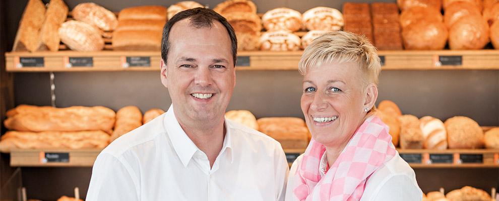 Petra Gnaier und Bäckermeister Paul Gnaier